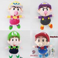 Wholesale Super Mario Figures Waluigi - Super Mario bros. Baby Mario baby Luigi baby wario Kids waluigi Plush doll toys Figure 9inches