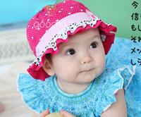 neuer mädchen blumenhut großhandel-Sun Hut und Kappe Fishman Hüte des neuen Art und Weisebabys des Babys 10pcs / lot für Sommerblumeneimerhut CP