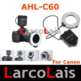macro ring light camera flash Canada - Aputure Amaran Halo AHL-C60 Macro Ring Flash Light 60 LED For Canon DLSR Cameras
