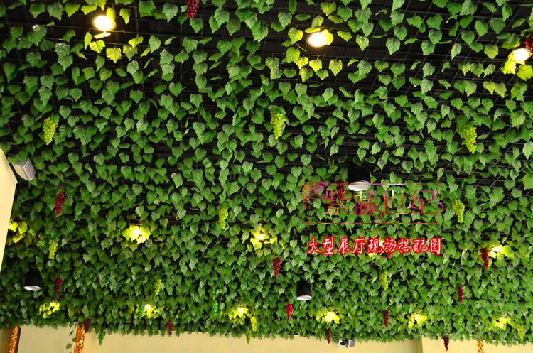 Simulación de vides verdes artificiales de uva Flores de la vid sinuosa Decoración para el hogar 500m / 1000m /