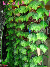 Plastic Green Vines Canada - Simulation artificial green vines of grape Winding vine flowers Home Decor 500m lot 1000m lot