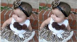 Wholesale Dress Girl Brown Leopard - Leopard 2 Piece Set Dress lace Brown new girls tutu skirt dress Girl's short sleeve TuTu dress