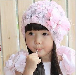 $enCountryForm.capitalKeyWord Canada - HOT! Children's bud silk flowers cap Toddler Baby Girls Lace Bowknot Cap Kid's Hair Accessories