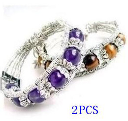 Wholesale Jade Beads Jewellery - Beautiful Tibet Jewellery purple jade and Tiger eyes jade bracelets
