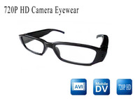 Wholesale Video Postings - Fashion spy 720P HD video glasses pinhole hidden camera eyewear mini glass camera china post(f)