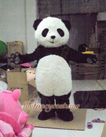 Wholesale Giant Animal Costume - adult size white long fur giant panda mascot costume character costume party outfit