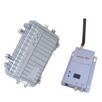 Wholesale Long Range Wireless Video Transmitters Receivers - 2.4G 3000mW long range waterproof outdoor wireless video transmitter and receiver