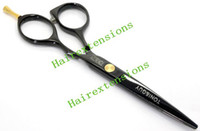 Wholesale Japan Hair Scissors Brand - 5.5INCH Hair Scissors Barber Scissors Shear cutting Scissors Black Steel JP440C,Brand New,1pcs