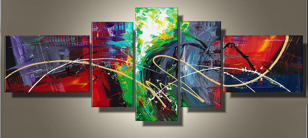 art modern abstract oil painting multiple piece canvas