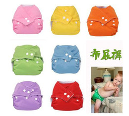 Wholesale Diaper Cover Inserts - 10pcs One Size Adjustable Baby Washable Cloth Diapers Cloth Nappy +10 Inserts