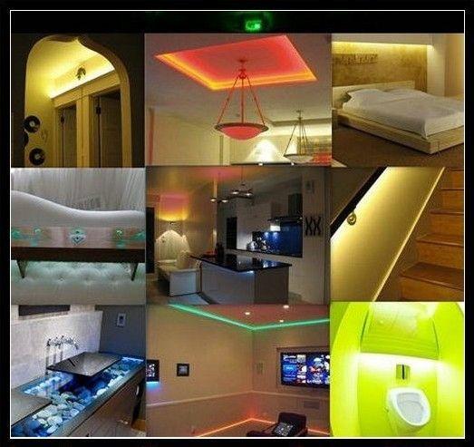 60 M 60 metri 5 M / roll Flessibile RGB LED Light Strip 16ft 5050 SMD 5 M 300 LED WATERPROOF CE ROSH Via DHL spedizione gratuita