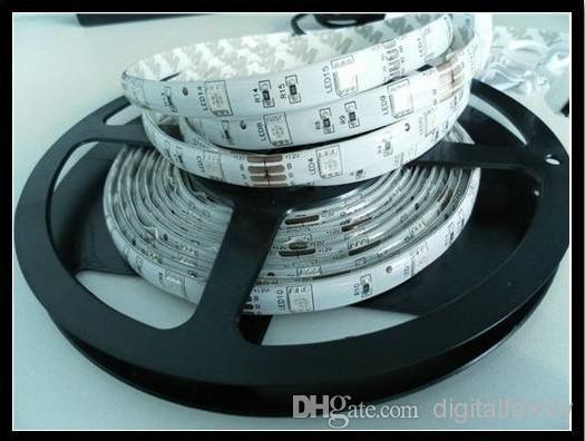 Goedkope RGB LED Strip Waterdichte 5M SMD 5050 300 LED's / Roll +44 Sleutels IR-afstandsbediening + 12V 5A Power Adapter