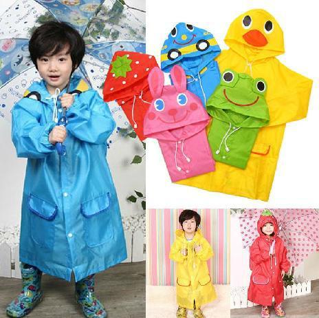 저작권 보호를받는 어린이 동물 모델 비옷 키즈 비옷 비녀 소녀 비 케이프 방수 코트