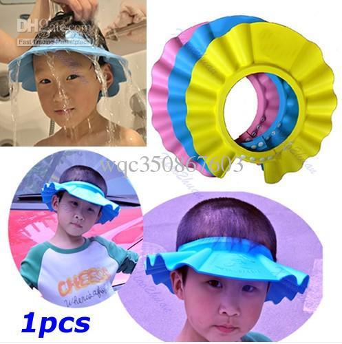 Baby Kids Children Shampoo Bath Shower Soft Hat Cap Wash Hair Waterproof Shield