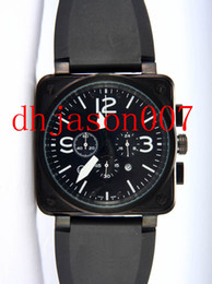 Discount men square dial chronograph watches NEW Hot Sale Free Shipping BLACK DIAL LIMITED EDITION quartz Chronograph Stopwatch MOVEMENT 01-94 men watches