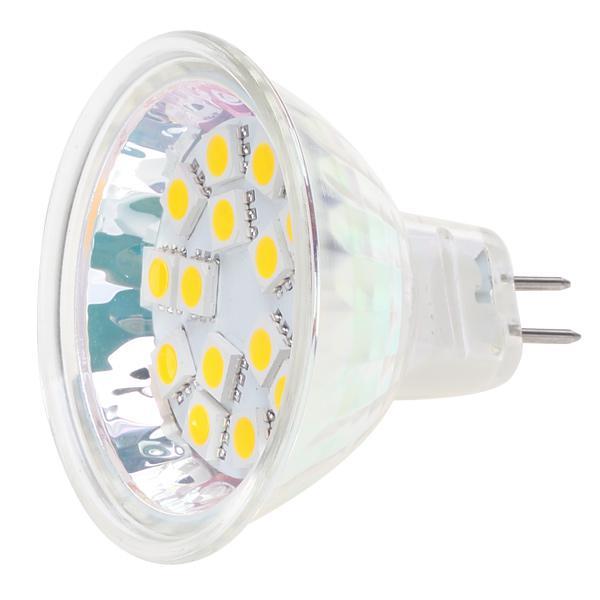 Затемняемый 15LED MR16 G4 Базовый свет лампы AC / DC10-30V 12V / 24V Белый теплый белый прожектор Освещение корпуса