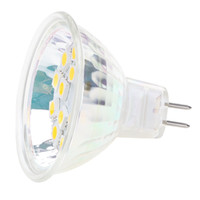 Wholesale Dimmable LED MR16 G4 base Light Lamp AC DC10 V V V Wide Volt SMD White Warm White