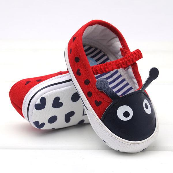 Zapatos con forma de escarabajo para bebés Zapatos antideslizantes para bebés Zapatos para niños pequeños unisex 15 par de lote EC211