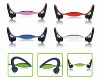 Wholesale Headphones Mp3 Tf Card - Wholesale - Wireless Sport Headphone MP3 Earphones Protable Headset With 2.0 USB TF Card Slot