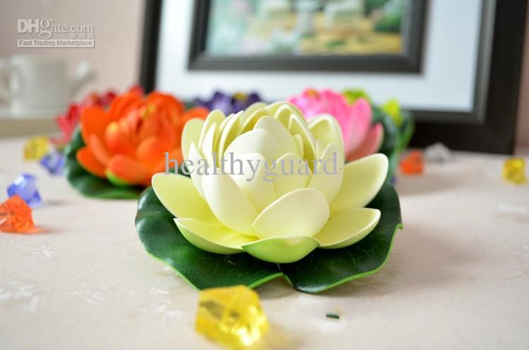 10 CM Fleur de Soie Artificielle Fleur de Lotus flottant eau fleur jardin réservoir de poissons piscine Décorations fournitures