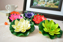 $enCountryForm.capitalKeyWord Canada - 10CM Artificial Silk Flower Lotus flower floating water flower garden fish tank swimming pool Decorations supplies