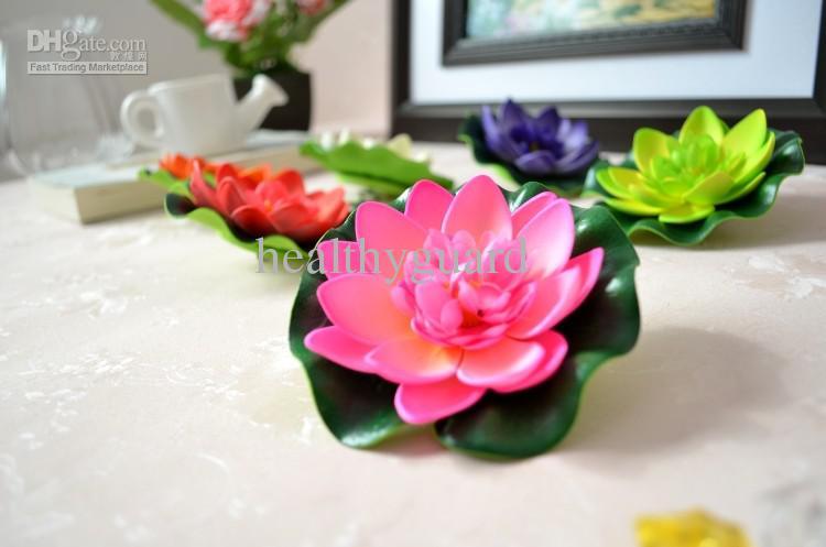 10CM 인공 실크 꽃 로터스 꽃 물 꽃 정원 수족관 수영장 부동 용품 장식 용품