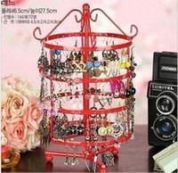 Wholesale Rotating Earrings Display - Wholesale-144 holes four rotating earrings jewelry display rack holder stand HT2