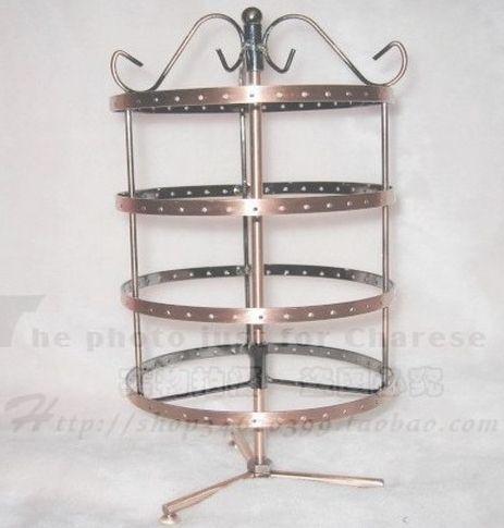 Toptan-144 delik dört dönen küpe takı vitrin tutucu HT2 standı