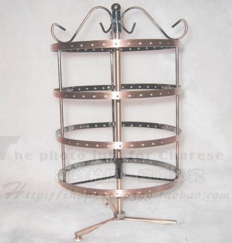Wholesale-144 Löcher vier drehender Ohrringschmucksache-Präsentationsständer-Halterstandplatz HT2