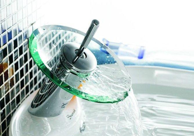 Gratis verzending 1 stks * hot koop waterval kraan badkamer vaartuig wastafel 2c