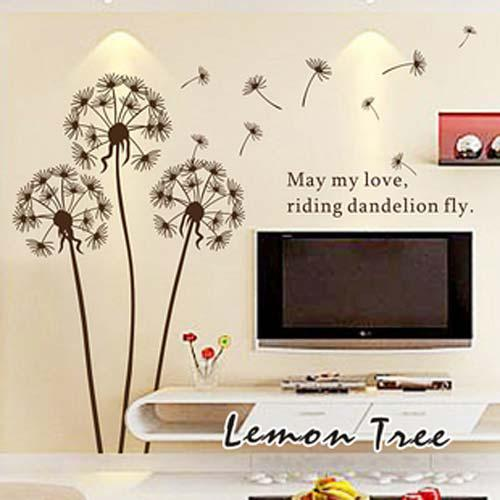 Flower Dandelions Wall Stickers Art Decal Transparent New  V - Wall stickers art