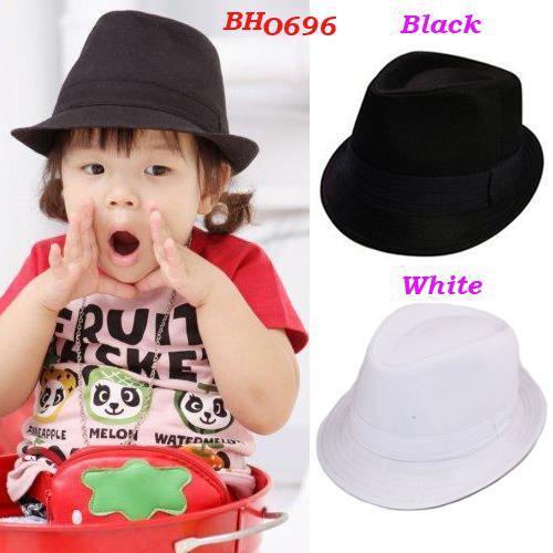 050ea5165116a 2019 Kids Fedora Hat Baby Top Hat Children Performance Cap Baby Gangster  Hats Jazz Cap Infant Headwear From Charles27