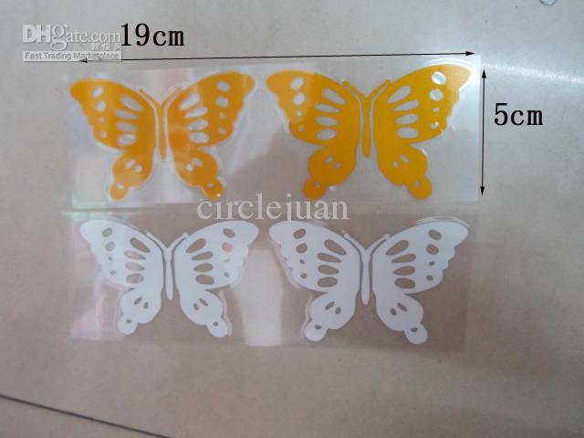 Etiquetas engomadas al por mayor baratas de las etiquetas engomadas de la mariposa 100PR / para el coche / la pared Reflctive el 18 * 5cm de China