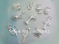 commande de bijoux achat en gros de-5 PCS / SET Livraison gratuite 925 Sterling Silver mix ordre Charme Pendentif PA DIY Bijoux Fit Bracelet Earring