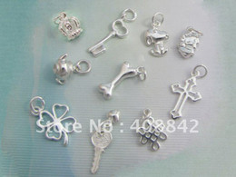Wholesale Order Wholesale China - 5PCS SET Free shipping 925 Sterling Silver mix order Charm Pendant PA DIY Jewelry Fit Bracelet Earr