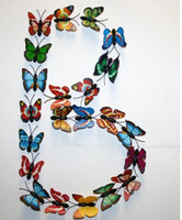 Wholesale Small Colorful Butterflies - 50 Pcs Small Size Colorful Three-dimensional Simulation Butterfly Magnet Fridge Home Decoration