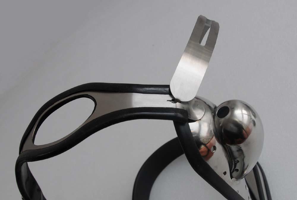 Juguetes del sexo masculino completamente ajustable de tipo T de acero anal Enchufe Cinturón de castidad inoxidable