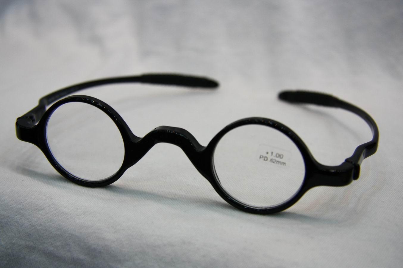 Classical Retro Round Frame Reading Glasses, Men Women Flexible ...