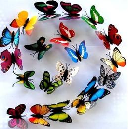 Wholesale Wholesale Butterfly Magnets - 20pcs lot Butterfly Fridge Magnet Simulation Butterfly Refrigerator Magnet Children's toys