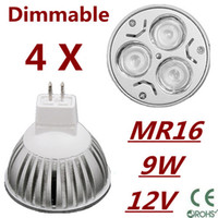 Wholesale Warm White Mr16 Halogen - 4X Dimmable LED Lamp MR16 9W 12W 15W Halogen Bulb Light Bulbs High Power light Free Shipping