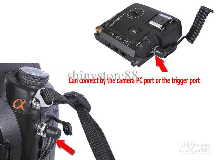 Male to Male 3-plug PC SYNC Cord Cable fr Camera Flash Radio Trigger Light Meter
