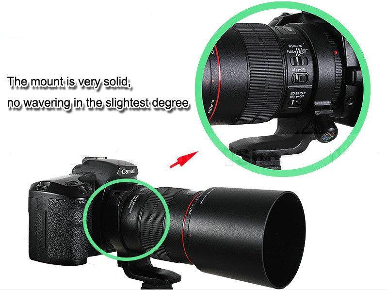 Anneau de montage trépied métallique IS-TMR pour Canon EF100 / 2.8L IS Macro USM