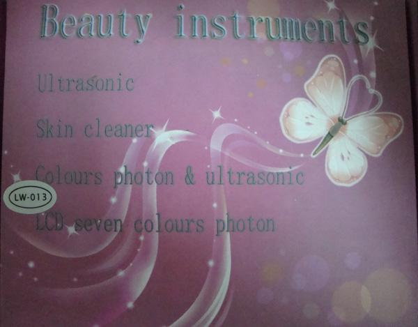 3 LED-verlichting Ultrasone Huidverjonging Facial Masager Home Gebruik Schoonheidsapparatuur