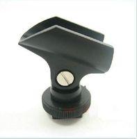 heißschuhmikrofon großhandel-Blitzschuh für Kamera Licht Mikrofon Halter Mic Stand Kamera Camcorder Mike
