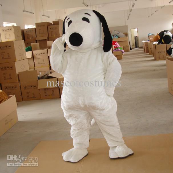 Peluche Body Snoopy chien costumes de mascotte pour la fête d'anniversaire taille adulte custom made livraison gratuite blanc