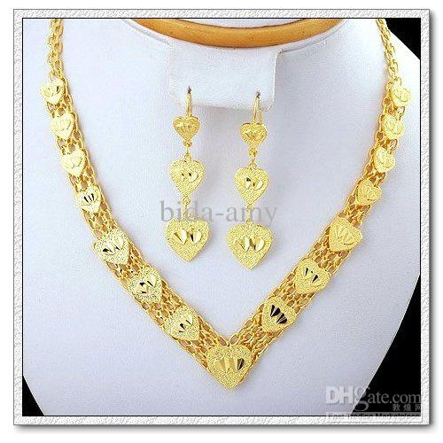 Discount Cheap Fashion Copper With 18k Gold Plated Jewelry Sets