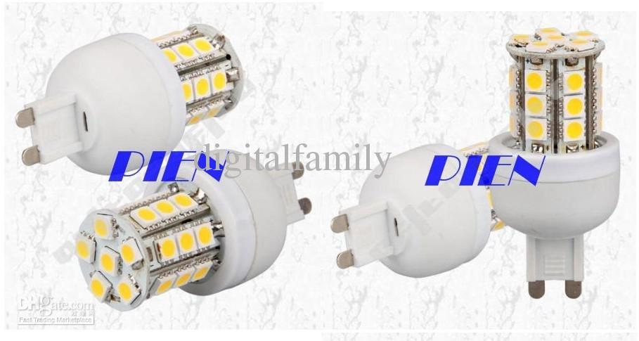 100 Unidscheap G9 5W 5050 SMD 27 LEDs Luz de Maíz GU10 E27 B22 E27 E14 Lámpara LED 220V | 110V Cool Blanco / Cálido Camperino Marino Blanco por DHL