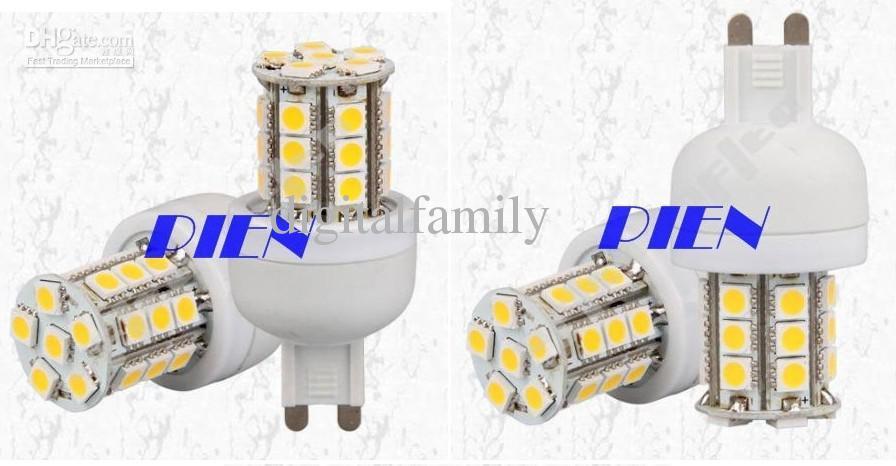 G9 LED 옥수수 전구 램프 5W 5050 SMD 27 LED 220V   110V 쿨 화이트 / 웜 화이트 에너지 절약 램프
