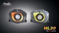 Wholesale Headlamp Cree Fenix - Fenix HL30 Cree XP-G R5 LED max 200lumens 2AA headlamp(yellow Orange)with strap and Spare o-ring