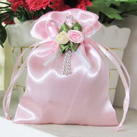 Wholesale Satin Red Gift Bags - Multicolor brocade candy bags  gift bags   jewelry bag   candy hi egg bags   goodie bags size M 322